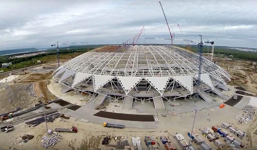 Inverno é um grande obstáculo na construção de estádios na Rússia